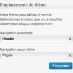 Gestion des menus WordPress